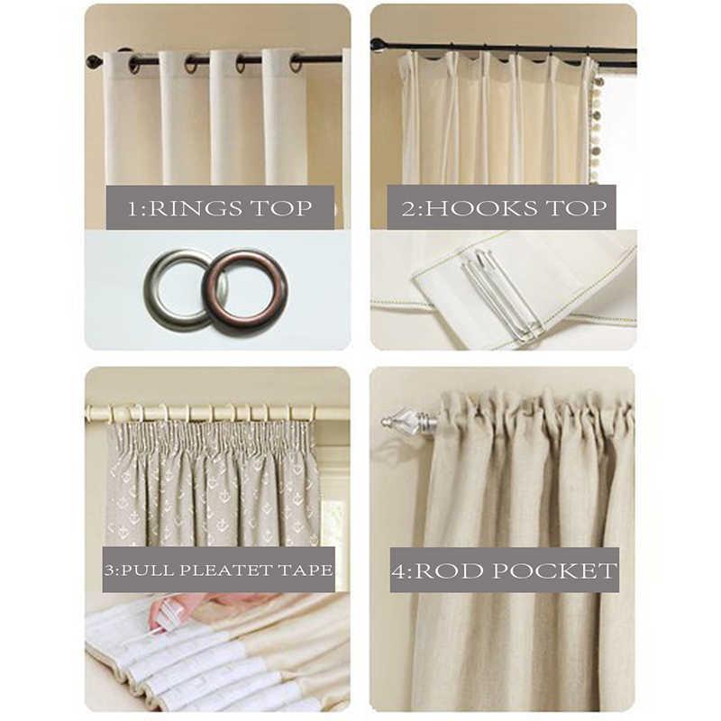 ENHAO однотонные тюлевые шторы для гостиной, спальни, тюль для кухни, современные прозрачные шторы, занавес из муслина для двери, из полированой латуни