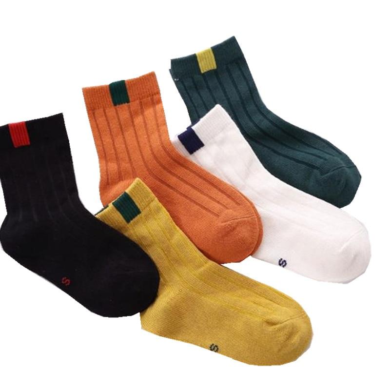 5 Pair/lot New Soft Cotton Boys Girls Socks Cute Cartoon Pattern Kids Socks For Baby Boy Girl Style недорого