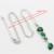 Larga Verde Esmeralda Imitado Joyería Color de Plata Para Las Mujeres Collar Colgante Pendientes de Gota de la Pulsera Regalos de Navidad