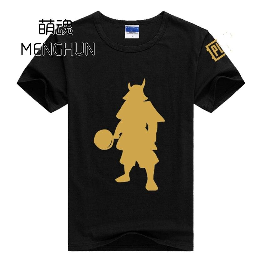 PUBG fans gift Pan Samurai t shirts PUBG Japanese style t shirts PUBG fans cotton t shirts ac868