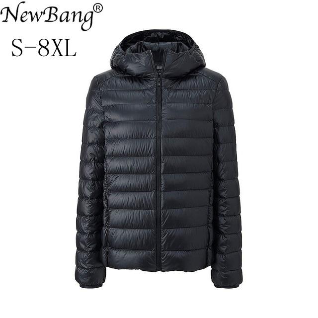 NewBang Brand 5XL 6XL 7XL 8XL Large Size Womens Down Jacket Ultra Light Down Jacket Women Winter Windbreaker Feather Coats