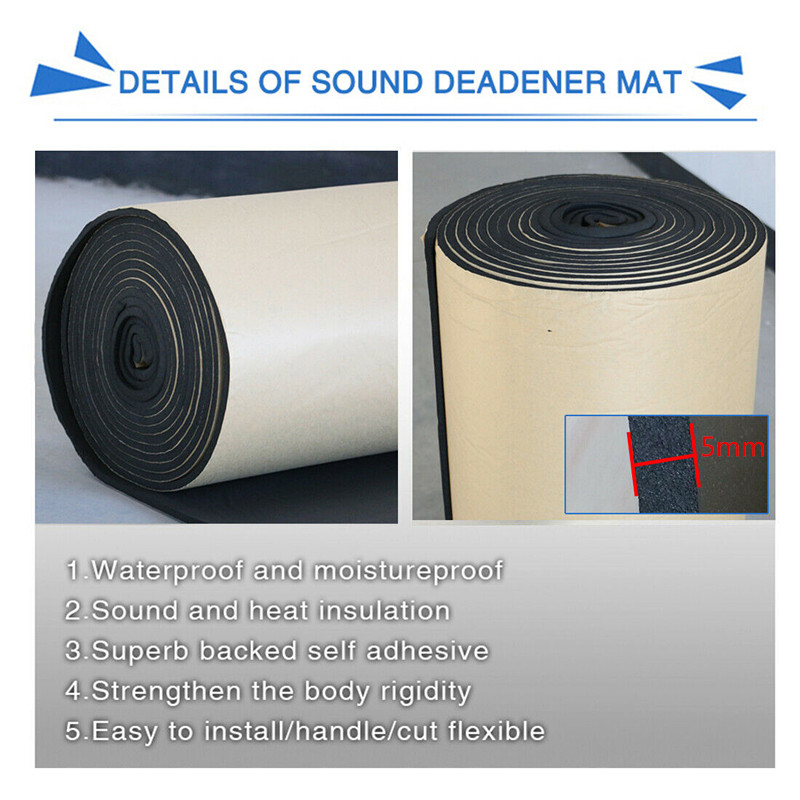 High Quality 5mm Noise Reduction And Thermal Insulation Pad Car Stereo Noise Heat Insulation Sound-Proof Dampening Pad Mat 50*80
