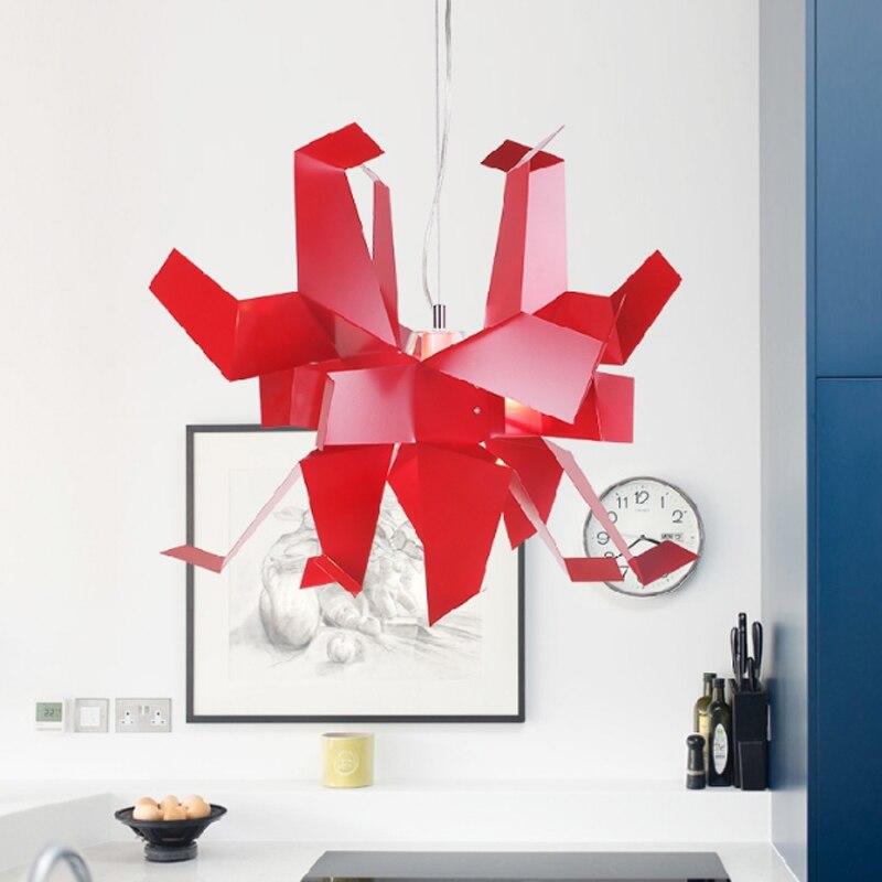 Moderne créatif en forme de conception suspension lampe blanche mille papier grue origami chambre décoration E27 lampe d'éclairage - 2