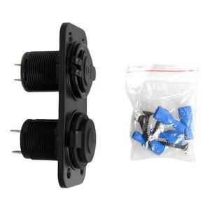 Image 3 - 12 24V double USB chargeur de voiture adaptateur de prise dalimentation 2.1A panneau pour bateau de voiture