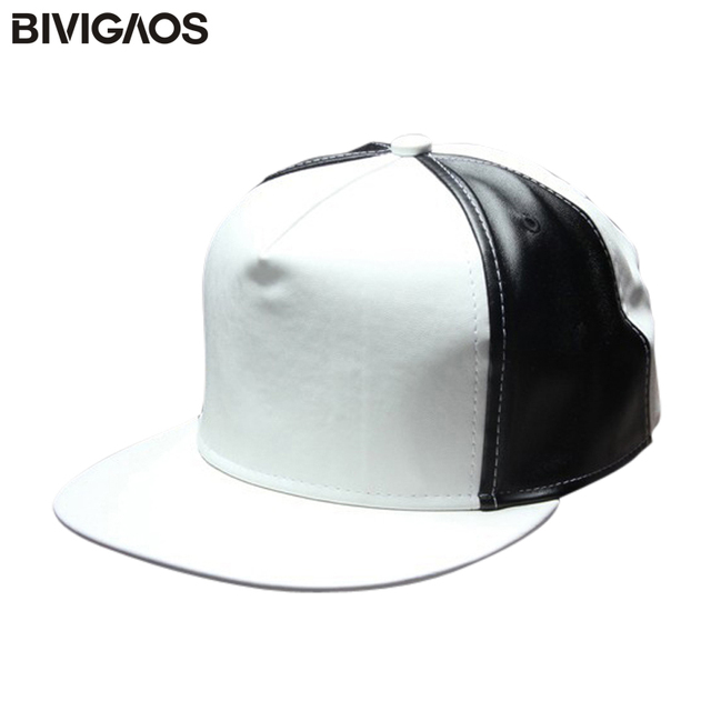 a60e3a3876f5c ... where to buy new fashion g dragon bigbang black white stitching pu  leather blank snapbacks hats