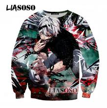 LIASOSO 2017 Popular Casual Sweatshirts Men Women Hipster 3D Print Long Sleeve Tokyo Ghoul Print Pullovers Brand Chothing T244(China)