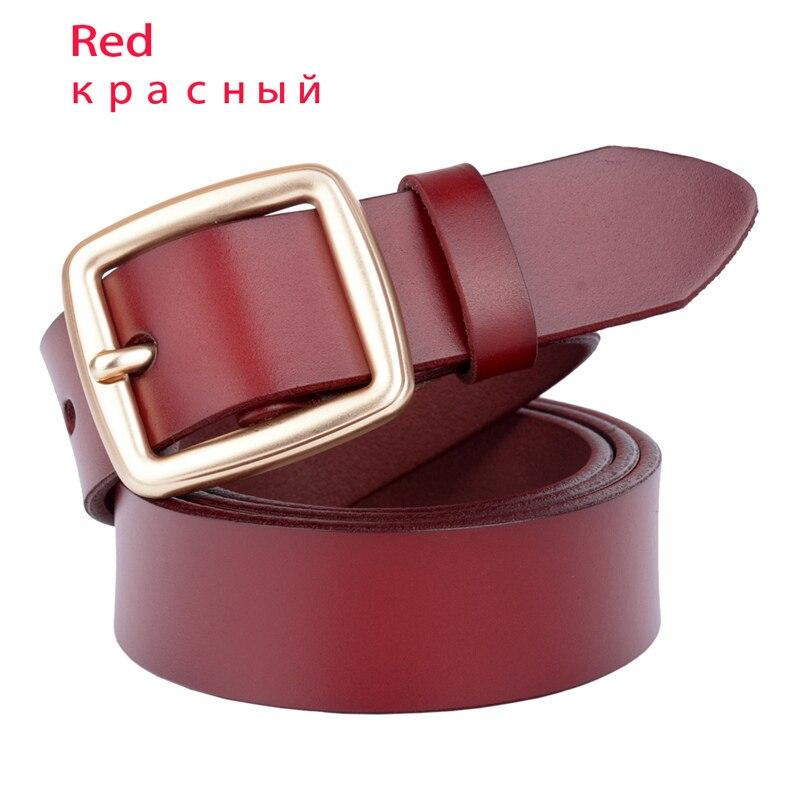 Дизайнер, известный бренд, роскошные ремни, женские ремни, мужской ремень на талию, настоящая воловья кожа, сплав, пряжка, ремень - Цвет: Красный