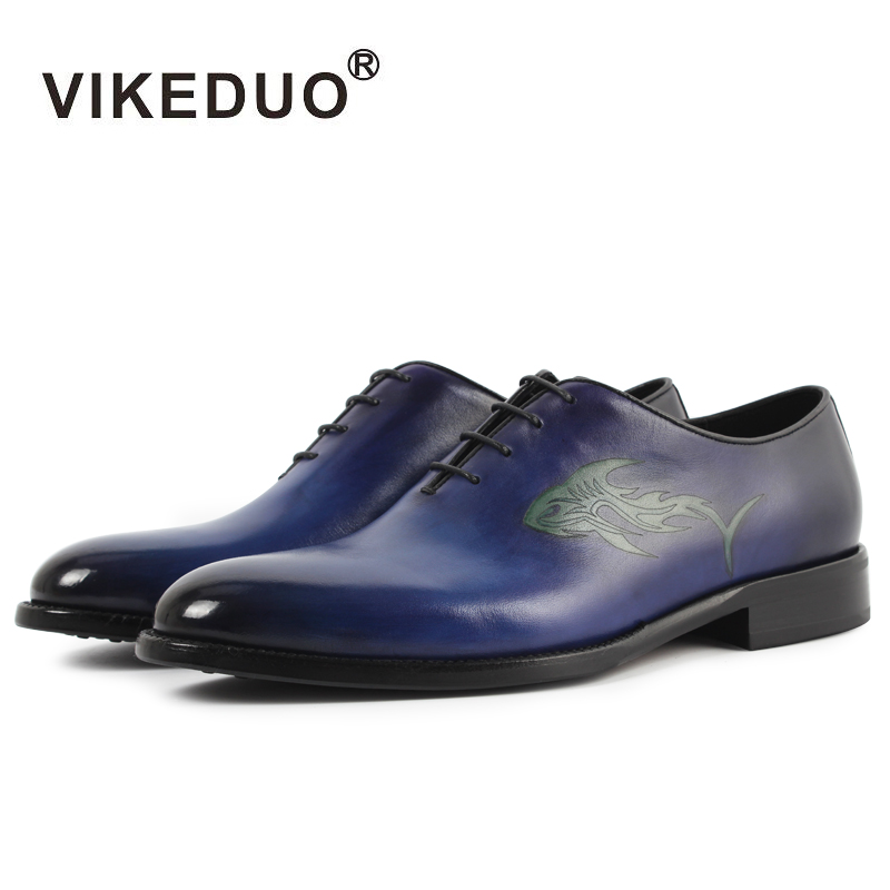 Vikeduo Handmade vintage Designer Fashion Luxury Party Wedding Dance Casual male dress shoe Genuine Leather Mens Oxford Shoes 2017 new style man shoe goodyears handmade mens oxford shoes wedding party dress 100