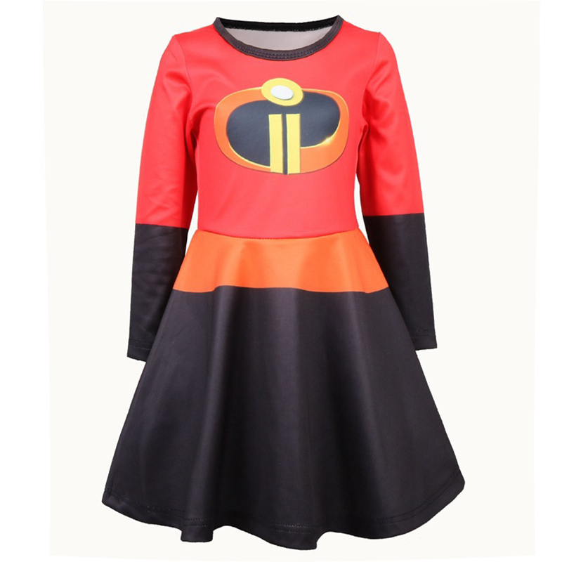 Girl Halloween Superman Cosplay Anime Costume Children Dress Superhero Dress Up Halloween Party Carnival Dress Set