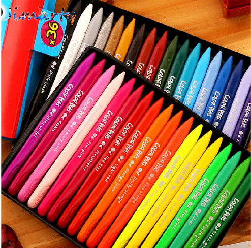 Non-toxic Wax Crayon 12~36Colors Edible Kids Drawing Supplies Eraseable Crayon Art Supplies School Kingdergartern Supply AKP008