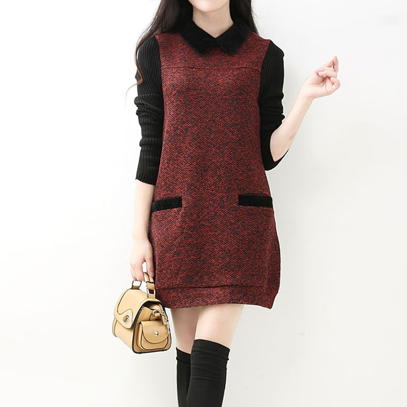 Winter Autumn Spring Long Sleeve Maternity Dresses Pregnant Dress for Pregnancy Pregnancy Clothing Gravida Clothes