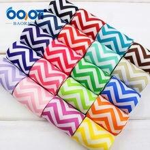 Ooot baorjct 14 cores mix,1-1/2 38 38 38mm chevron impressão impresso fita de ondulação gorgorão hairbow diy decoração de festa, mdbw40
