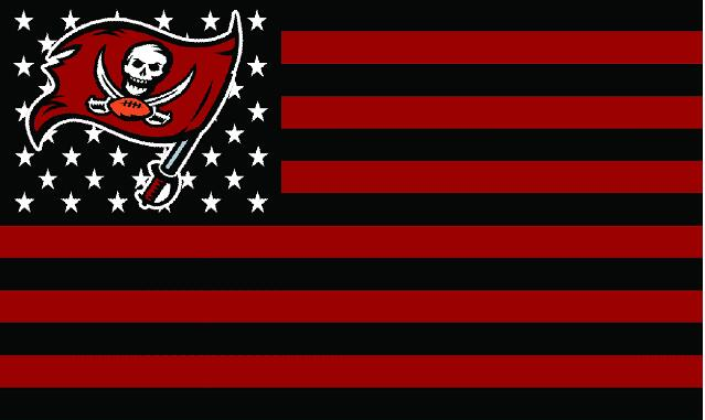 Tampa Bay Buccaneers logo with US stars and stripes Flag 3FTx5FT Banner  100D Polyester flag 90x150cm 4272ec8323b