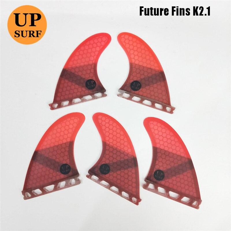 Future Fin K2.1 Tri-Quad Fins Surfboard Fins Fiberglass Honeycomb Quilhas Thruster 5 Fin Set Upsurf
