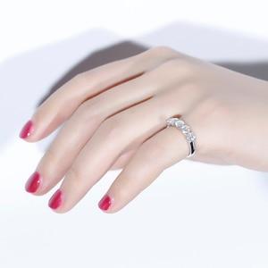 Image 4 - Transgems 1.25 Carat CTW 4mm F Color Solid 14K 585 white Gold Half Eternity Wedding Band Moissanite Diamond Wedding Band