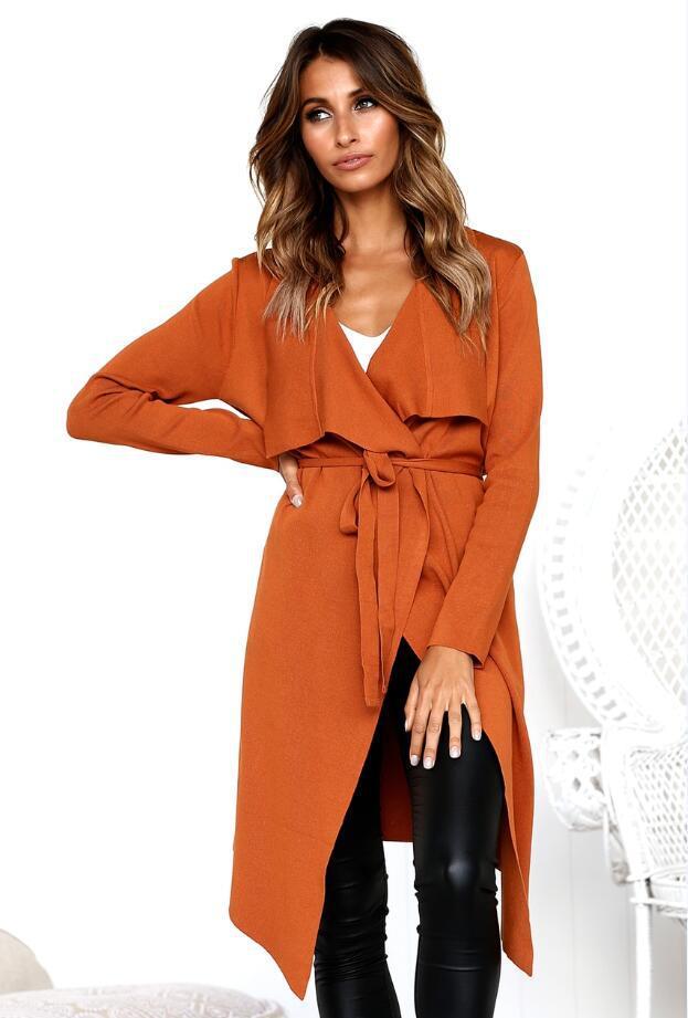 Gris Loisirs De nous vert Manteau Vêtements Manches Femmes Nouvelles Style Longues Euro kaki Automne Chandail Hiver Modèles orange rose Cardigans Zxqn01w