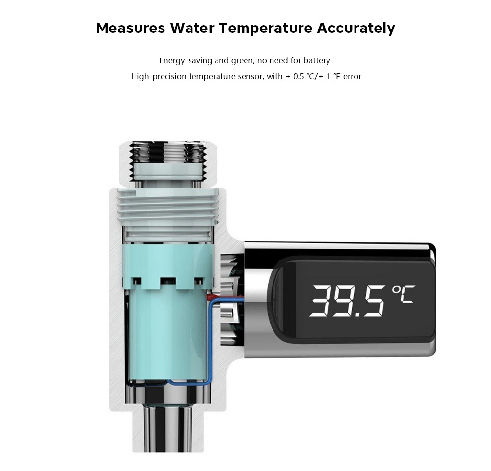 LED Display Water Thermometer For Bathroom Showers