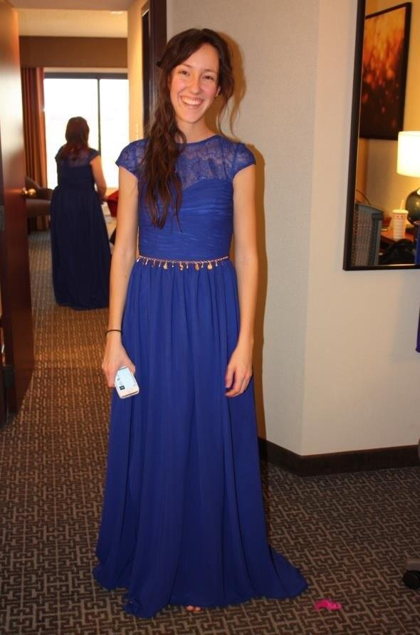 422fe9af8c6 2016 Vintage Bridesmaids Dresses Navy Blue Chiffon Lace Wedding Party Gowns  Short Sleeves Long Plus Size Bridesmaid Dress Cheap