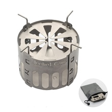 Alcohol Stove Bracket Outdoor Pure GrillTitanium Barbecue Pit Mini Portable With Fuel Stand