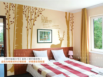 Christmas Decor For Home Bedroom Livingroom Hotel Show Room Decoration Forest Tree Winter Reindeer Wall Stickers Wall Decal