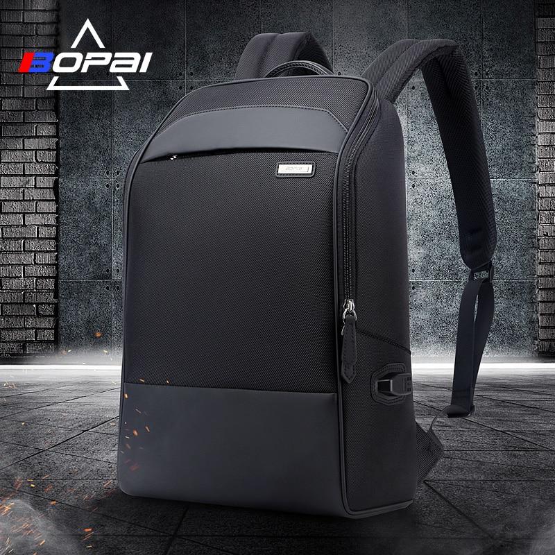Bopai Waterproof Schoolbag Backpacks Black Usb Charging Laptop Busines Men Backpack Casual Travel Bags Male Travelling Rugzak
