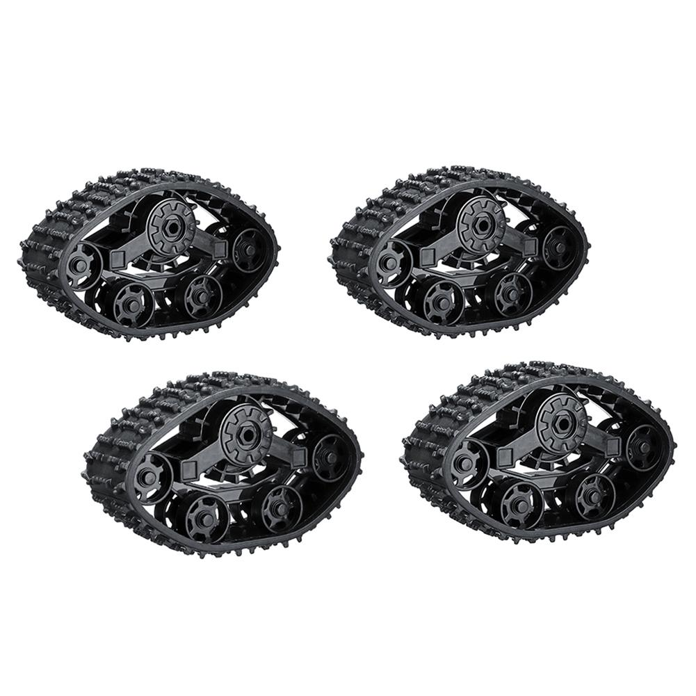 4 piezas alta simulación de los juguetes de los niños Mini Remote Control RC cuatro ruedas pista de reemplazo accesorios de goma Juguetes