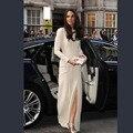 Kate Middleton fenda alta manga comprida celebridade no tapete vermelho vestidos de noite elegante Formal do partido vestido robe de soirée