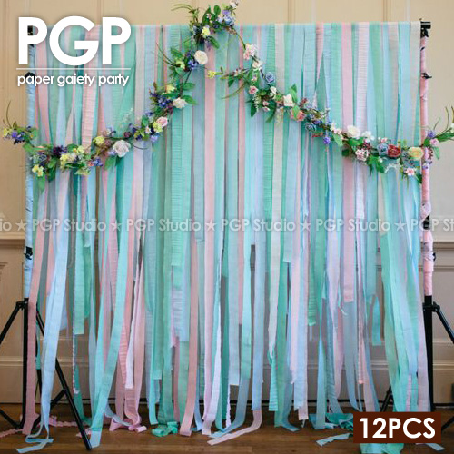 PGP Blue Crepe Paper Streamers for Wedding Kids Girls Frozens