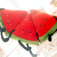 candice guo! super cute funny expressions fruit watermelon plush toy doll creative birthday gift 1pc