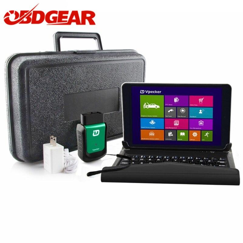 Más Vpecker V10.6 for launch OBD2 Wifi código OBD2 escáner 8 pulgadas Windows 10 Vpecker Tablet ODB2 Auto diagnóstico escáner