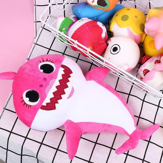 Cartoon Sharks soft Dolls Toys for Girl Children Baby Animal Kid Toys Cute Gift Elastic Environmentally PU brinquedos 2