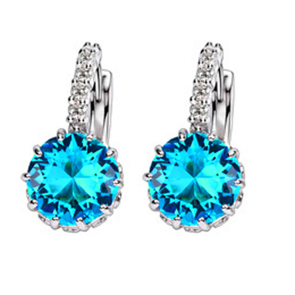 Charming Jewelry Accessories Crystal Rhinestones Inlaid Woman Dangle Earrings Color Silver Plated EAR-0633