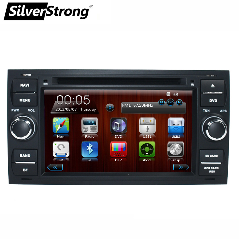SilverStrong Double din car dvd for ford focus 2DIN Universal for Focus Transit GPS Car Stereo for ford Car Radio Navi silverstrong 8inch 2din android7 1 radio car dvd for suzuki sx4 mp4 mp3 radio navitel gps navi