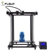 Flsun 3D принтеры предварительная сборка печати Размеры 320*320*460 мм области печати металлический каркас Высокая точность с подогревом кровать П