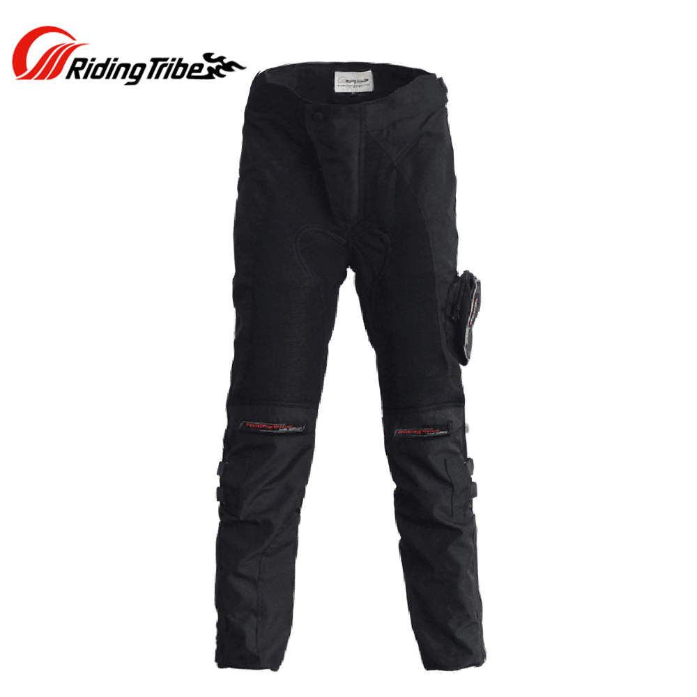 Riding Tribe Men Motorcycle Racing Pants Motocross Off-Road Riding Pants Motorbike Waterproof Windproof Trousers with Knee Pads