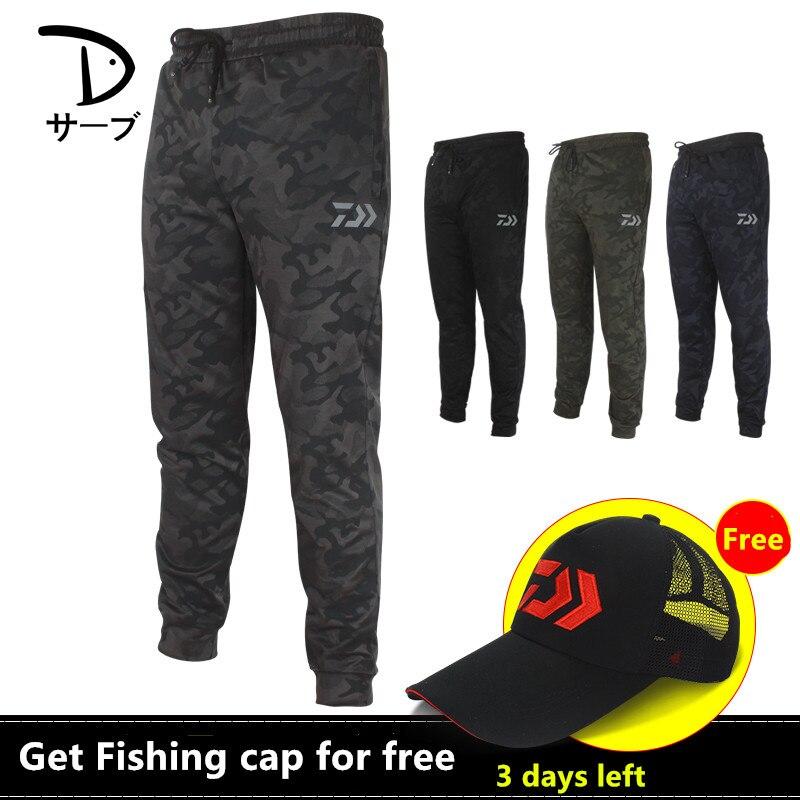 Estate 2018 Donne Degli Uomini di Bambù del Carbone di legna di Pesca DaiWa Pantaloni Fast Dry Traspirante Camouflage Leggings Leggero Pescatori Pantaloni