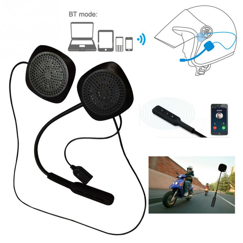 New Stereo For Motorbike Helmet Wired Headset Long Standby Bluetooth Earphone