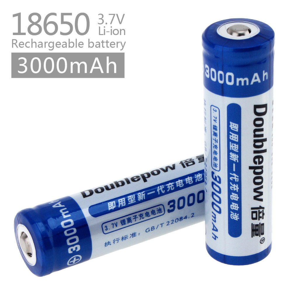 2pcs/set Doublepow Lsd High Capacity 3000mah 3.7v 18650 Li-ion Rechargeable Battery With 1200 Cycle Finely Processed