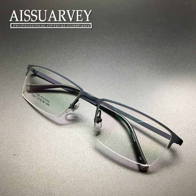 Eyeglasses frame fashion brand men vintage optical prescription half rim titanium reading computer myopia retro sprcial business