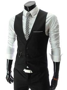 Happy Time Suit Vest Formal Dress Vest Waistcoat Men