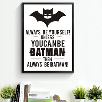 Marvel Comics Modern Cartoon Batman Art Canvas Painting Poster Prints Wall Pictures For Living Room Kids