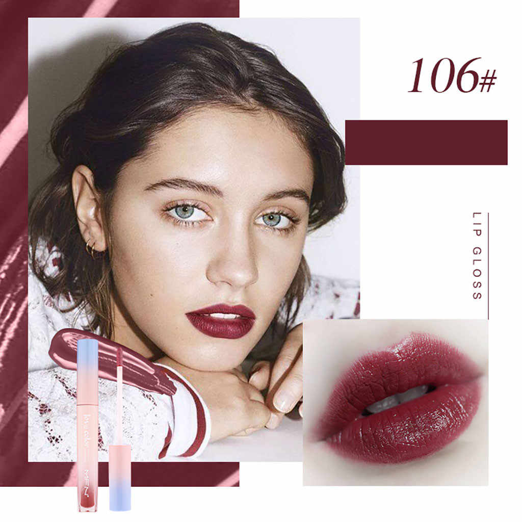 10 צבעים עמיד למים נוזלי שפתיים גלוס לחות בהירה קוריאני סגנון שיפוע שפתיים זיגוג לבנים אדום ארוך לטווח ליפ גלוס