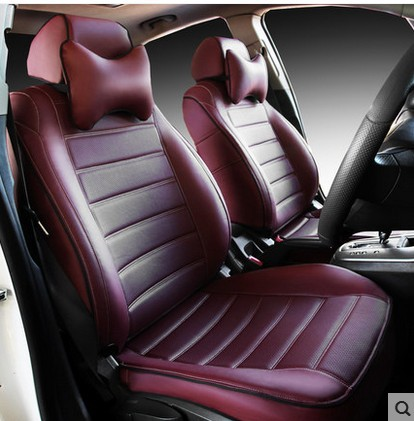 Leather Customize Car Seats Covers Auto Cushion Set For