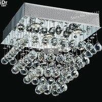 Işıklar ve Aydınlatma'ten Tavan Işıkları'de Altın Tavan Işıkları Kare basit lüks kristal lamba otel lambası koridor ışıkları 40 cm L x 40 cm W x 35 cm H