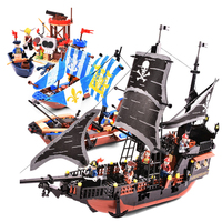 9109 9115 Pirates Caribbean Black Pearl Ghost Ship Large Building Blocks Model With Figures Compatible LegoINGLYs Kids Gift