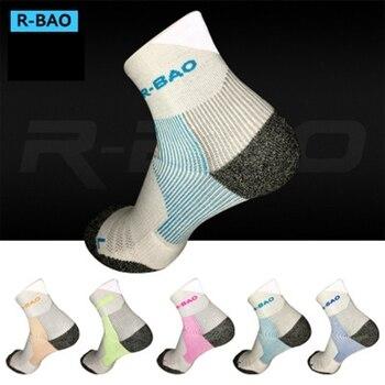 R-BAO One Pair Professional Compression Socks Women Men Running Sports Ankle Leg Protector Anti-sprain For Marathon