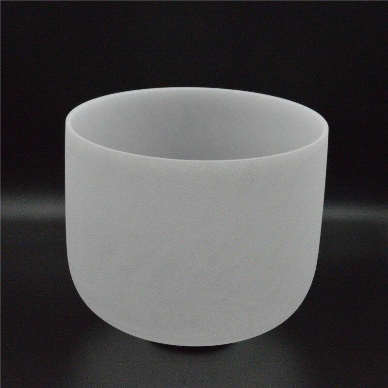 HF 12 pouces CDEFABC # Frost cristal chant bol lait blanc avec sac