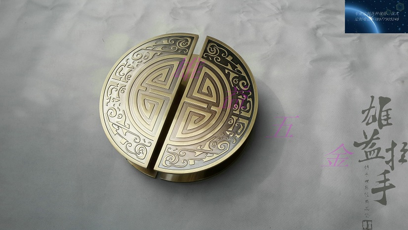 Chinese antique glass door door handle door handle modern clubhouse bronze sculpture semicircular wooden Handle european modern bronze handle chinese antique doors handle circular glass door handle