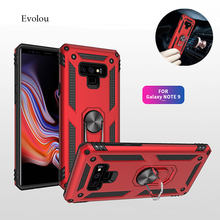 Luxury Car Holder Magnetic Suction Armor Case for Samsung Galaxy Note 8 9 S8 S9 Plus 2 in 1 Anti-knock Cover for Samsung S8 S9(China)