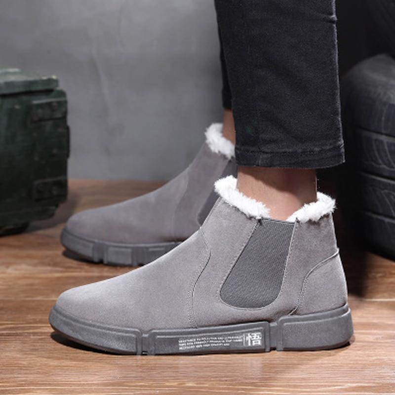 Ceinture Hommes Chaussures Neige gray D'hiver Black Marque Bottes khaki Solide Blanc De Velours Plus Couleur Élastique Mâle Nouveau 2018 qqpxFPnZrw